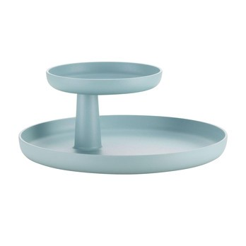 Vitra - Rotary Tray Tablett Ø30cm - eisgrau/oberes Tablett Ø 17cm drehbar