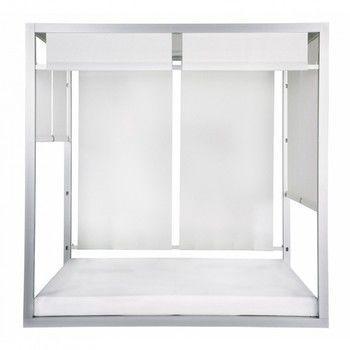 Gandia Blasco - Gandia Blasco Day Bed  - weiß Stoff Náutica/Gestell anodisiertes Aluminium/inkl. 8 Sonnenschutz Stoffbahnen/Rückenlehnen verstellbar/ inkl.2 Auflagen