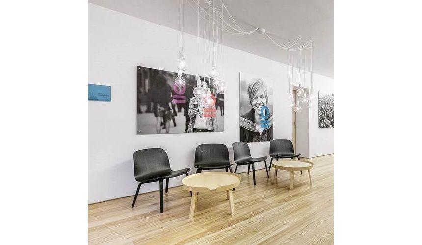 Visu Lounge Chair With Wood Frame Muuto Ambientedirect Com