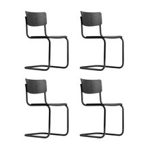 Thonet - Set de 4 chaise cantilever S 43 Classics in Colour Promo