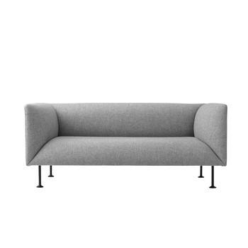 Menu - Godot Sofa 2-Sitzer - grau melange/pulverbeschichtet/LxBxH 162x83,5x70cm/Stoff Kvadrat