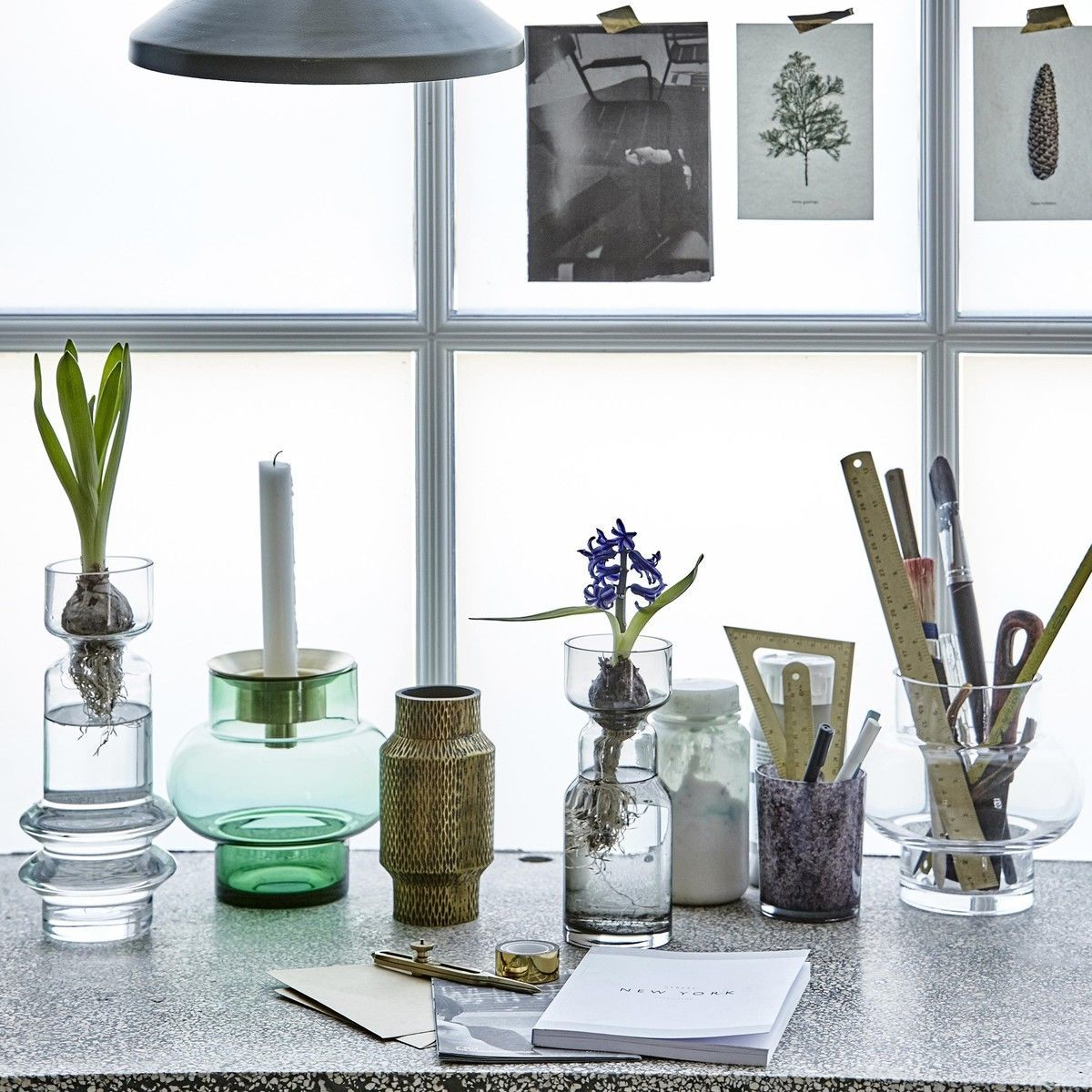 cast aluminium vase house doctor. Black Bedroom Furniture Sets. Home Design Ideas