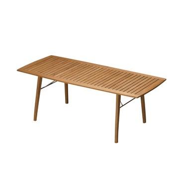 Skagerak - Ballare Gartentisch ausziebar - Teak/90x196-296cm/inkl. 2 Verlängerungsplatten