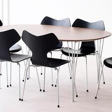 Fritz Hansen - B619 Super-elliptischer Tisch ausziehbar