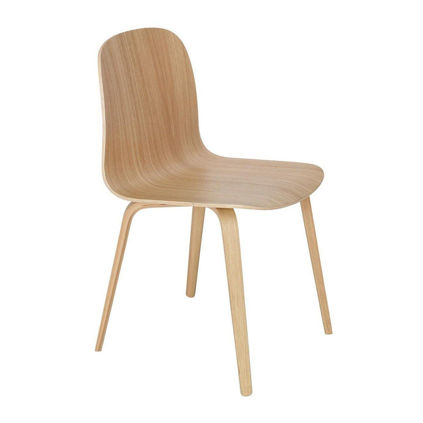 muuto visu chair with wood frame ambientedirect