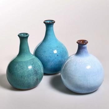 Blaue Keramik Vasen