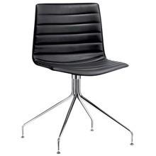 Arper - Catifa 46 0259 Stuhl in Leder mit Sternfuß