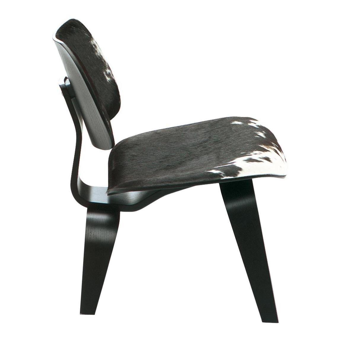 Vitra   LCW Chair Calfu0027s Skin   Calfu0027s Skin Black/white/frame Black Stained