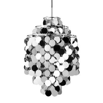 VerPan - Fun 1DA Pendelleuchte - metallen/Metall/3 Ringe/Stoffkabel schwarz