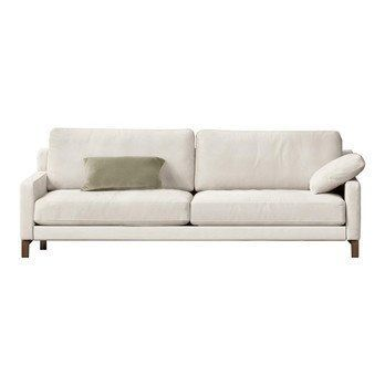 Rolf Benz - Rolf Benz Ego Sofa 4-Sitzer - hellelfenbein/Bezug Nubukeder 42.403/BxHxT 210x82x96cm/Gestell H81 Nussbaum/ohne Kissen