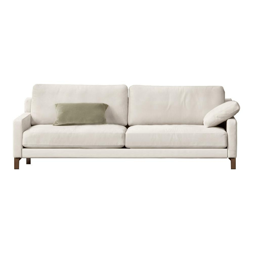 Rolf Benz   Rolf Benz Ego Sofa 4 Seater   Light Ivory/nubuk Leather 42.403