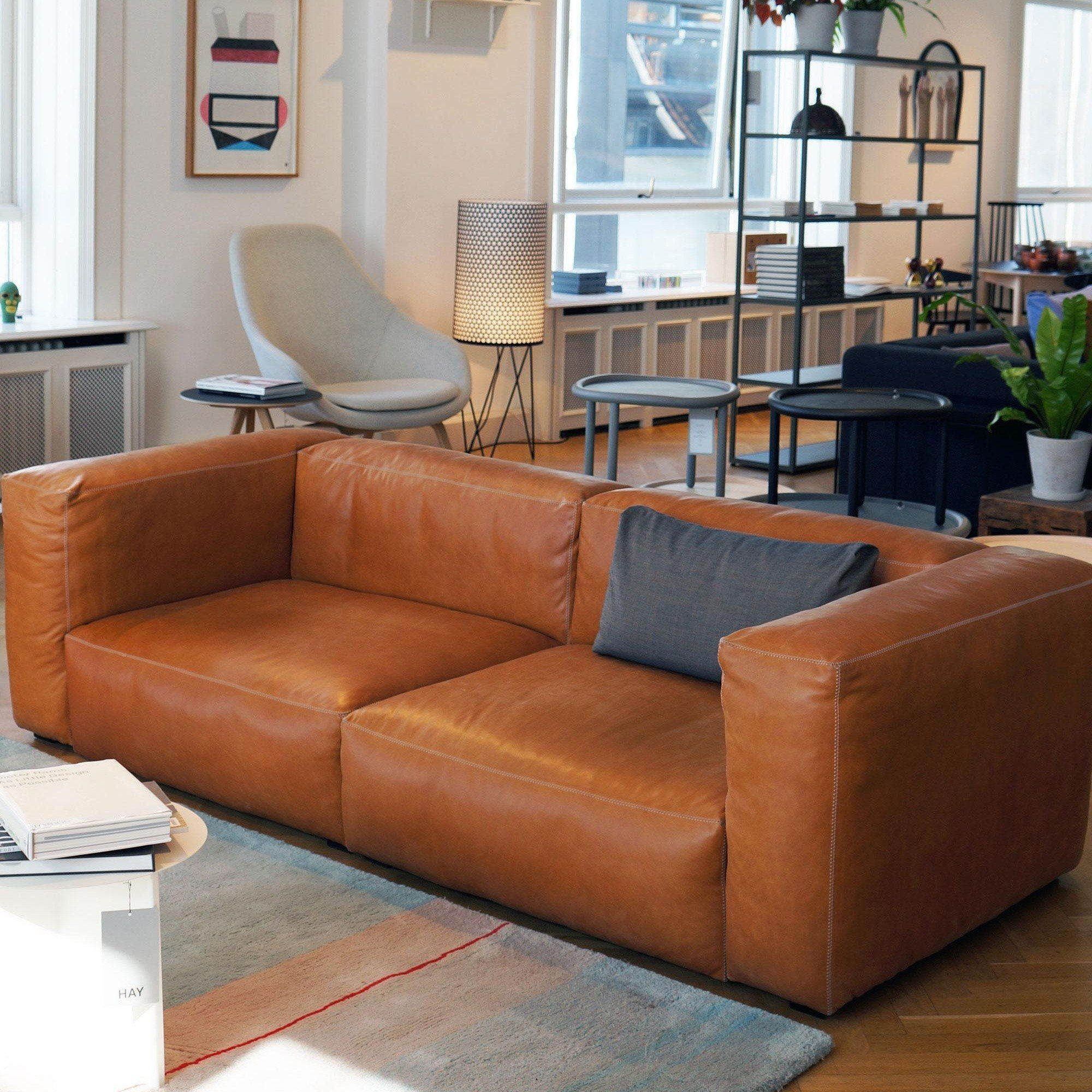 Hay Mags Soft 2 5 Seater Leather Sofa Ambientedirect