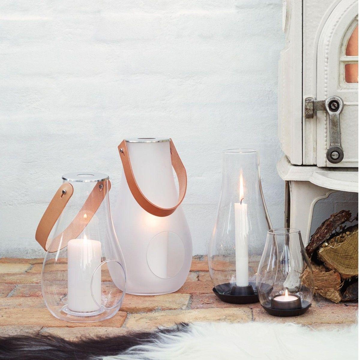 Design with light lanterne verre clair holmegaard for Lanterne exterieur design