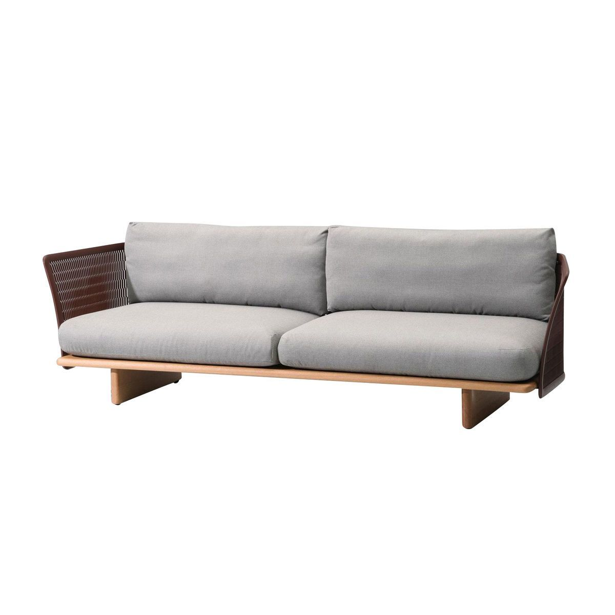 Grey outdoor sofa incredible grey wicker sectional patio for Sectional sofas for outdoor