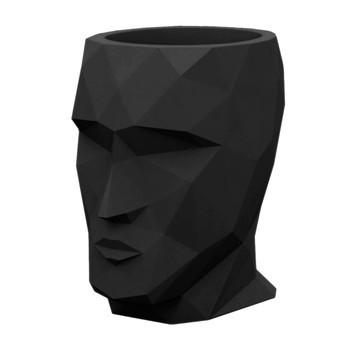 Vondom - Adan Pflanzgefäß - schwarz/matt/LxBxH 49x68x70cm