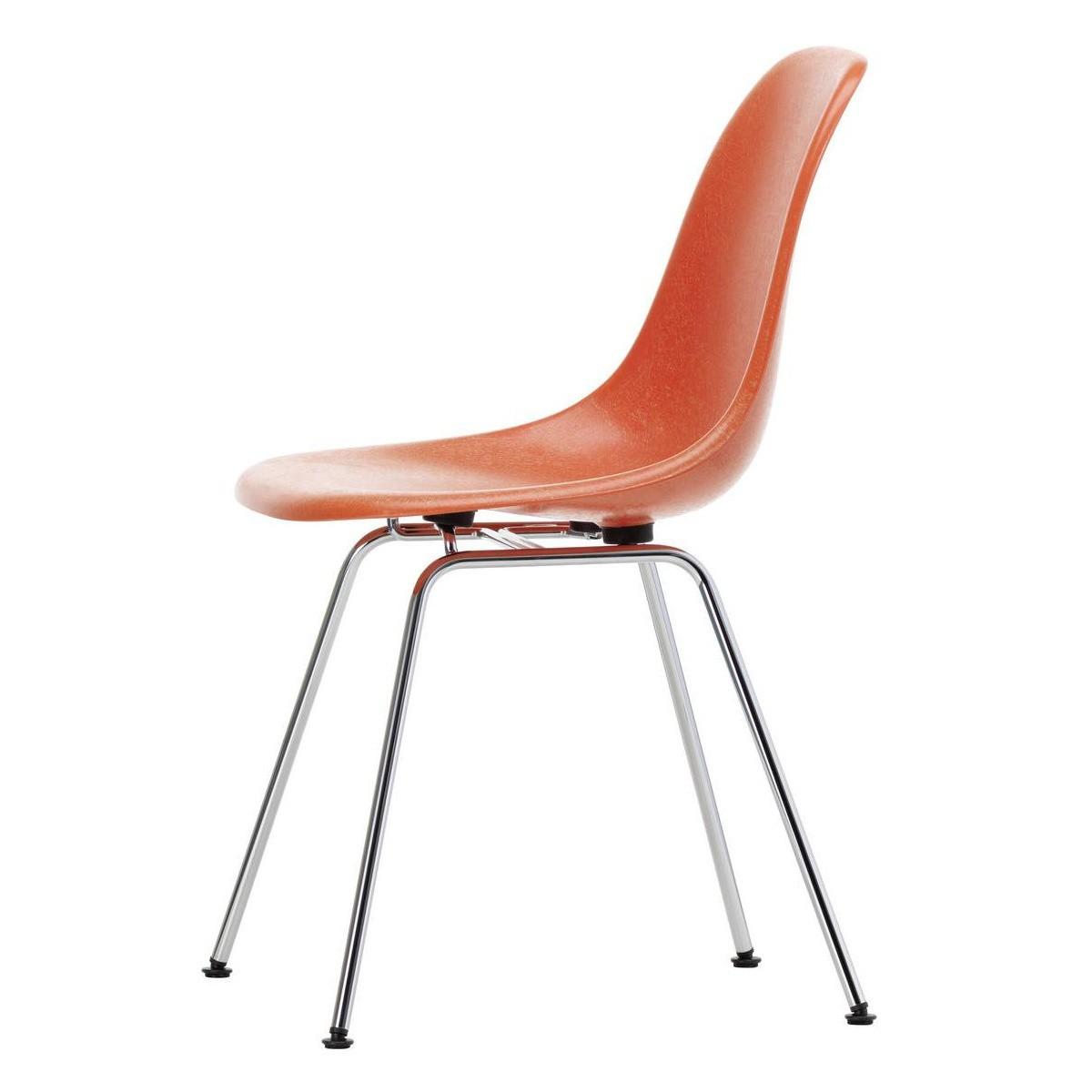 Eames Fiberglass Side Chair DSX Chromed Base
