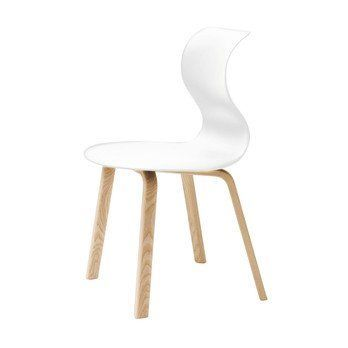 Flötotto - Pro 6 Stuhl Gestell Buche - weiß