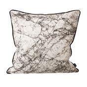 ferm LIVING - Marble Seidenkissen - grau/50x50cm/Kaltwäsche/von Hand gedruckt