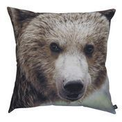 by nord - Bear Cushion 60x60cm - brown/black/washable at 30 °/incl. feather filling