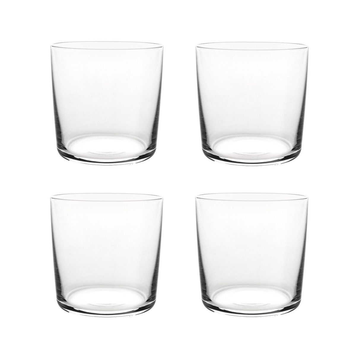 glass family water glass set of 4 alessi. Black Bedroom Furniture Sets. Home Design Ideas