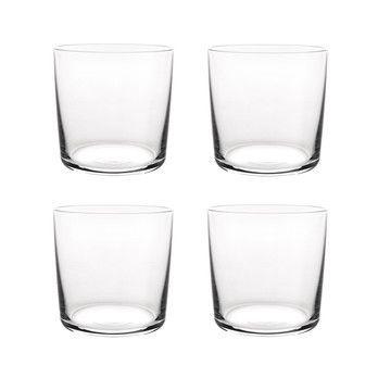 Alessi - Glass Family Wasserglas Set 4 tlg. - transparent/H 8,2cm, Ø32cl