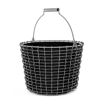 Korbo - Aktionsset Korbo Bucket 24 + 3 Plantingbags gratis - edelstahl/schwarz/H 28cm, Ø 38cm/Bucket 24 + 3x Plantingbags