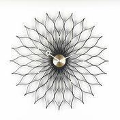 Vitra - Sunflower Clock Nelson Wanduhr - messing/schwarz/Ø75cm