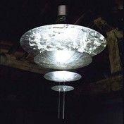 Catellani & Smith - Macchina Della Luce F LED Pendelleuchte - silber/Nickel Stäbe/2600K-2800K/5670lm/CRI80/Scheiben Ø120/80/50/30cm/inkl. Dimmer