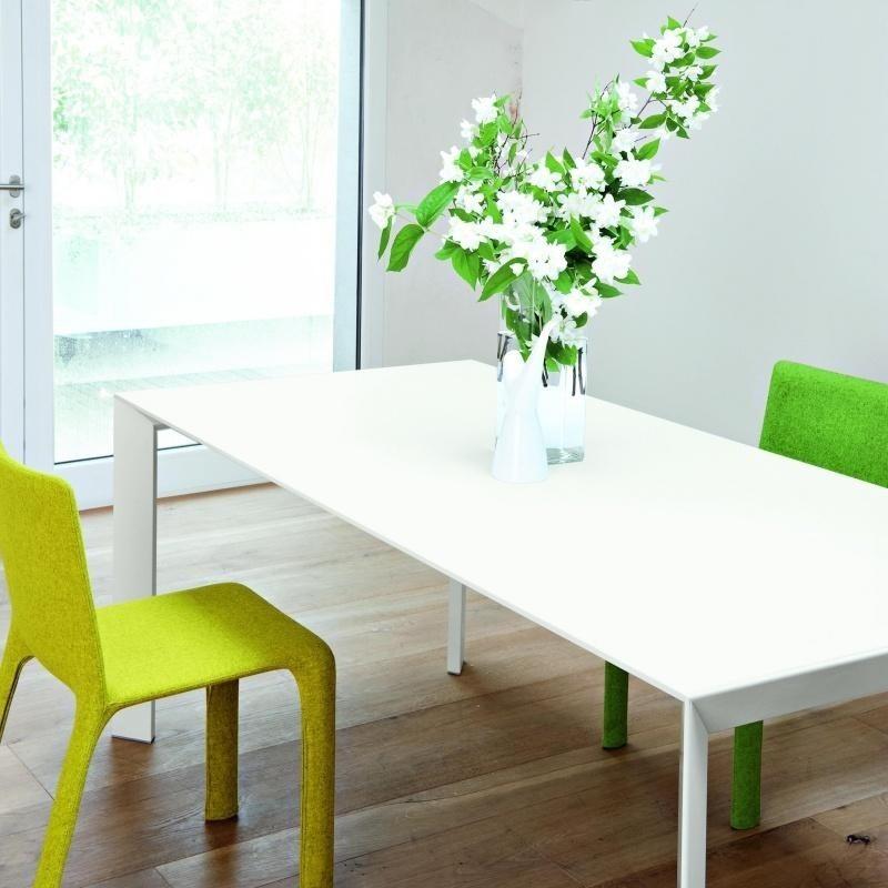 Kristalia Nori Pure White Dining Table Extendable
