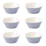Royal Doulton - Set de 6 bols de céréales Pacific Dots Ø15cm