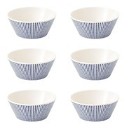 Royal Doulton - Pacific Dots granen kom set van 6 Ø15cm