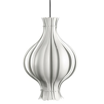 VerPan - Onion Suspension Lamp - white/lacquered/canopy chrome