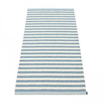 pappelina - Duo Teppich 85x260cm - misty blue/vanilla