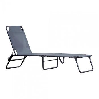 Jan Kurtz - Limited Edition Fiam Amigo Sonnenliege - schwarz/Kunststoffgewebe/BxHxT 58x29x190cm/Gestell Aluminium pulverbeschichtet