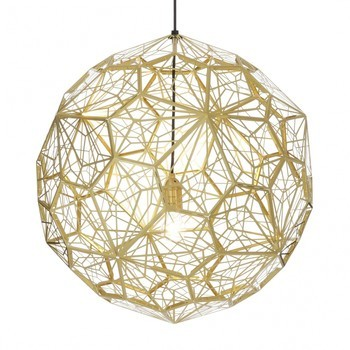 Tom Dixon - Etch Light Web Pendelleuchte - messing/Ø60cm