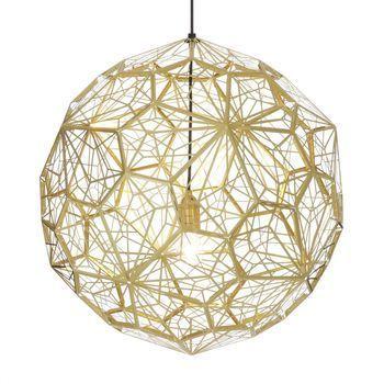 Tom Dixon - Etch Light Web Pendelleuchte - messing/Ø60cm