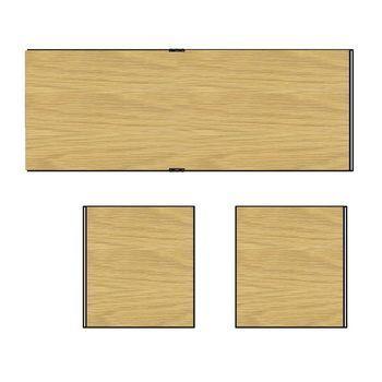 HAY - New Order Paneel-Set 3tlg. für 100cm Breite - eiche/2 Seitenwände/1 Rückwand/95x33cm