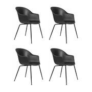 Gubi - Bat Dining Chair Gestell schwarz 4er Set