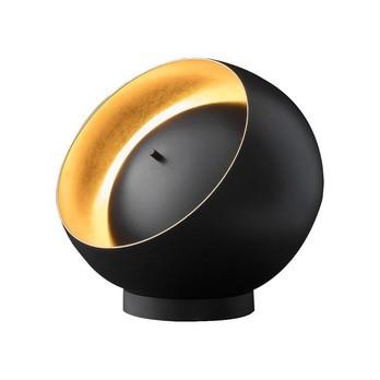 Oluce - Eva 216 LED Tischleuchte - schwarz/gold/lackiert/Ø25cm