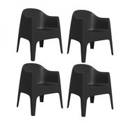 Vondom - Set de 4 chaise avec accoudoirs Solid