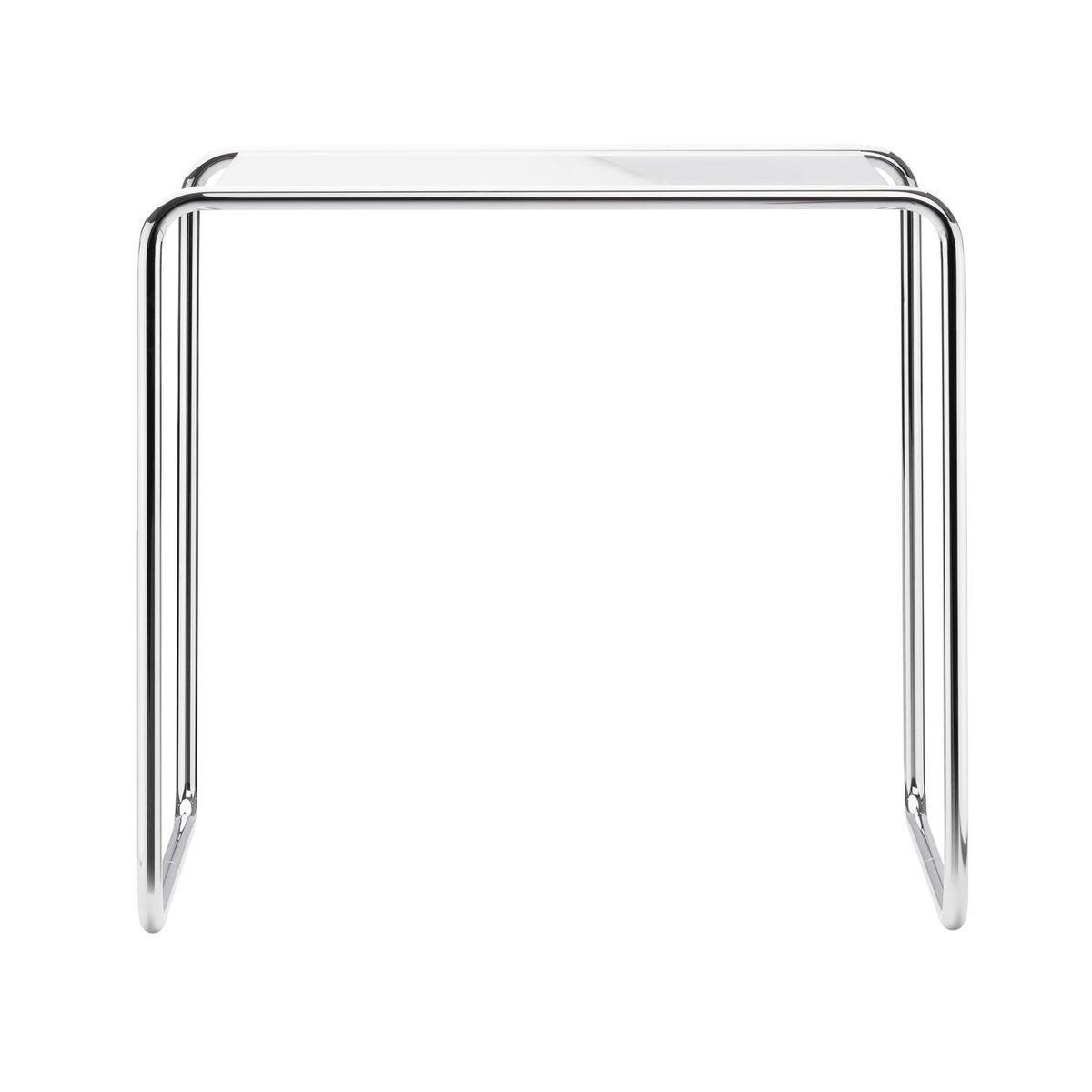 Beistelltisch glas weiß  Thonet B9 Beistelltisch Glas   Thonet   AmbienteDirect.com
