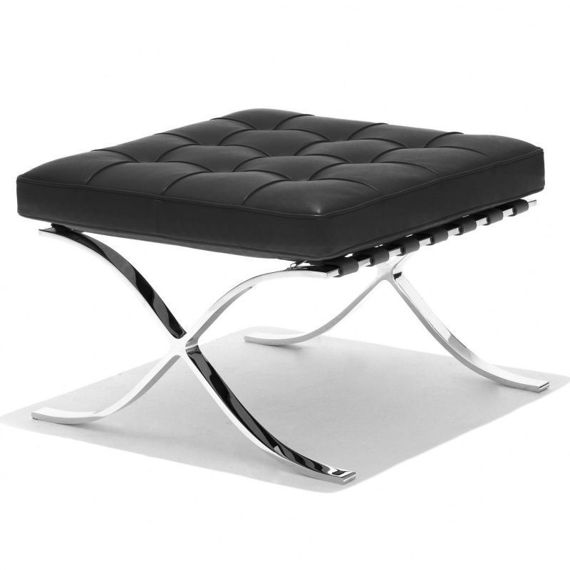 Barcelona mies van der rohe chauffeuse knoll for Tabouret barcelona
