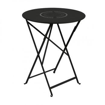Fermob - Floréal Klapptisch Ø60cm - lakritz schwarz/lackiert/H 73cm