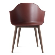 Menu - Harbour Armchair With Dark Stained Oak Base