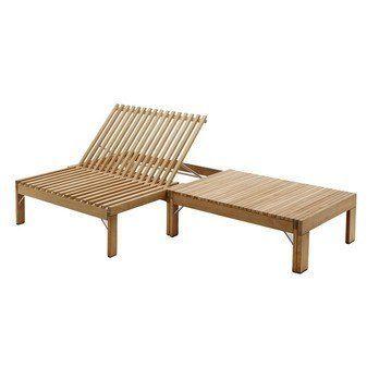 Skagerak - Riviera Lounge Sonnenliege - teak/203x67,5x32,5cm