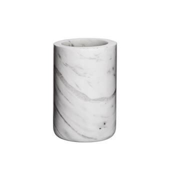 Bloomingville - Marble Becher  - weiß/Ø 7cm x H 10,5cm