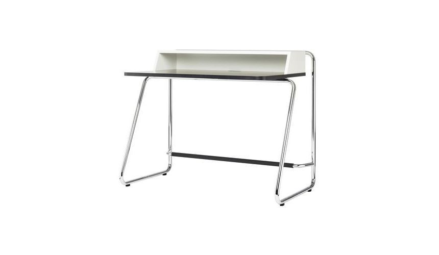 Thonet S 1200 Desk Home White Mdf Ral 9010 Laquered Tabletop