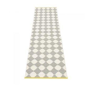 pappelina - Marre Teppich 70x375cm - grau/vanille/mustard stripe/wendbar
