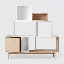 Muuto - Muuto Stacked Shelf System With Doors
