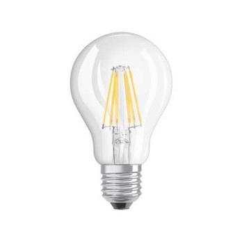 QualityLight - LED E27 BIRNE 300° FILAMENT KLAR 6W => 60W - transparent/2700K/806lm